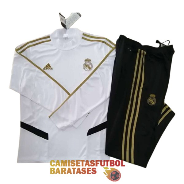 real madrid chandal cuello alto blanco 2019 2020