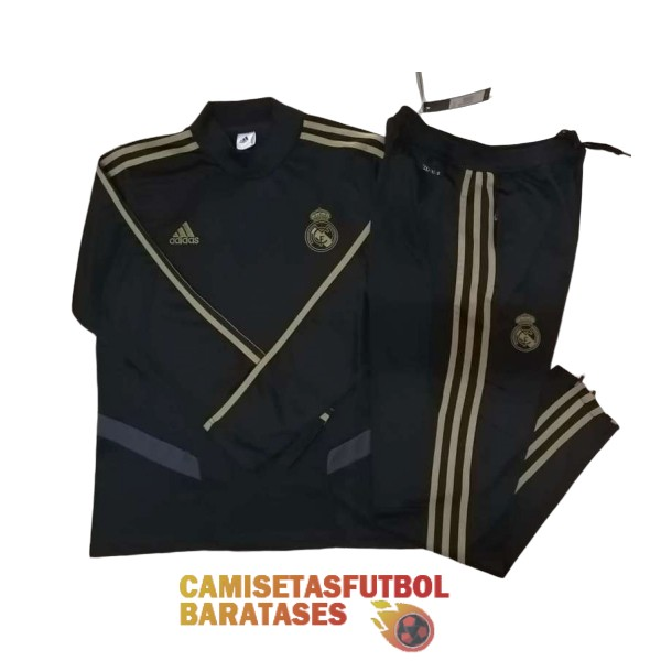 real madrid chandal cuello alto negro 2019 2020