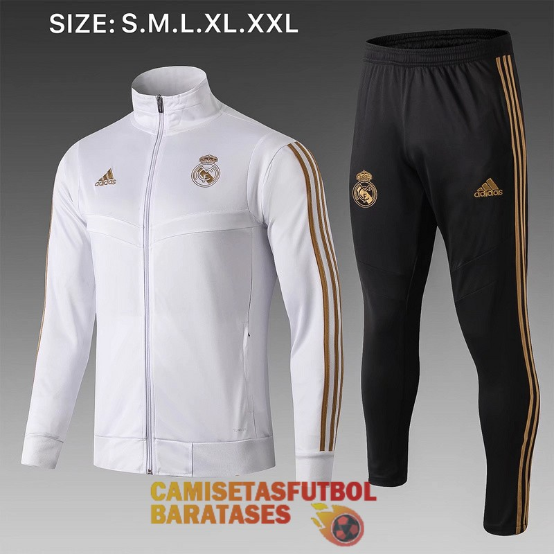 real madrid chaqueta blanco B 2019 2020