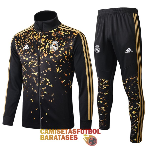 real madrid chaqueta oro negro 2019 2020
