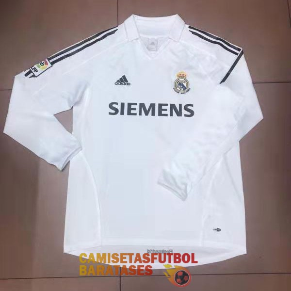 real madrid manga larga retro primera camiseta 2006