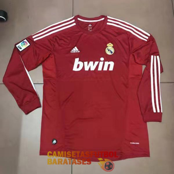 real madrid manga larga retro primera camiseta 2011-12