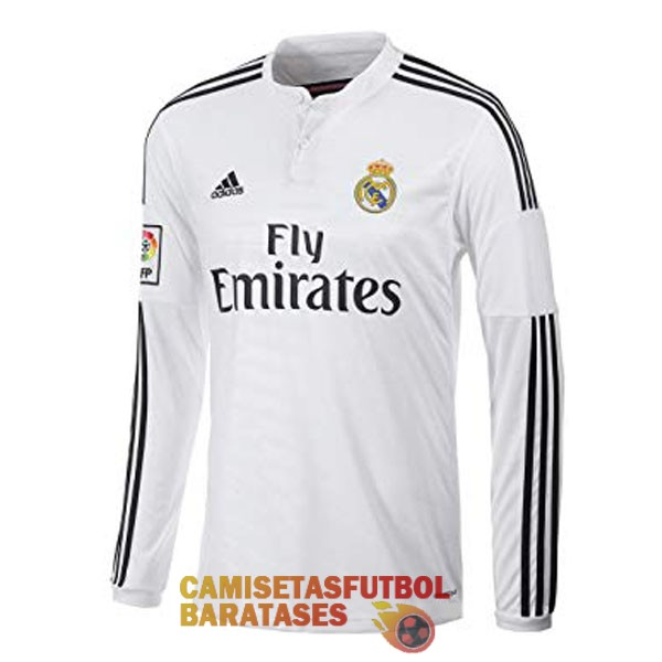 real madrid retro manga larga camiseta primera 2014