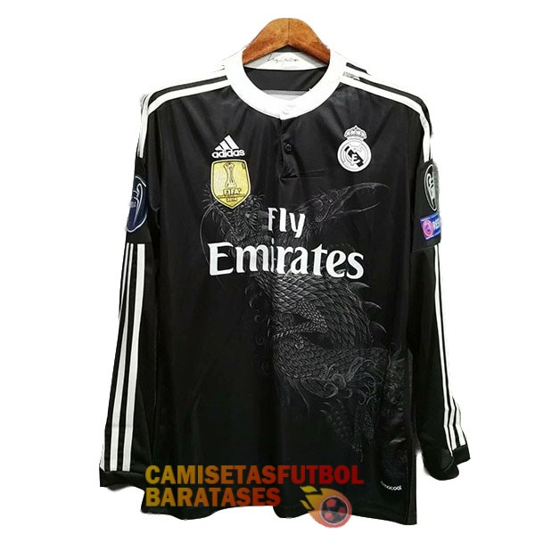 real madrid retro manga larga camiseta tercera 2014 2015