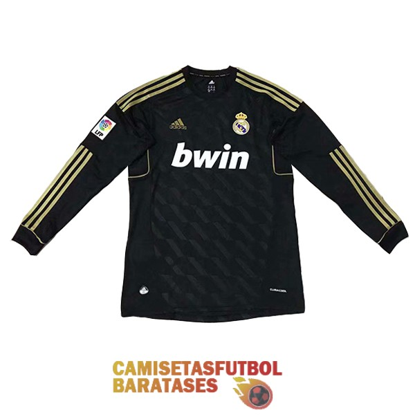 real madrid retro manga larga primera camiseta 2012