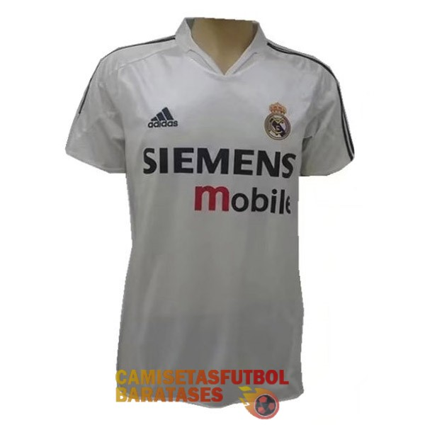 real madrid retro primera camiseta 2004